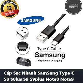 Cáp Sạc Type C Dành Cho Samsung Galaxy S8 S9 S9+ Note 8 Note9 Màu Đen Bảo Hành 6 Tháng 1 Đổi 1 thumbnail
