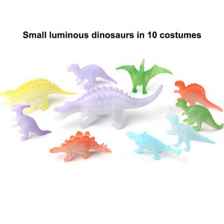 Model of dinosaur toy luminous