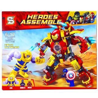 Bộ Lego Xếp Hình Ninjago Heroes Asenble Người Sắt. Gồm 371 chi tiết. Lego Ninjago Lắp Ráp Đồ Chơi Cho Bé.