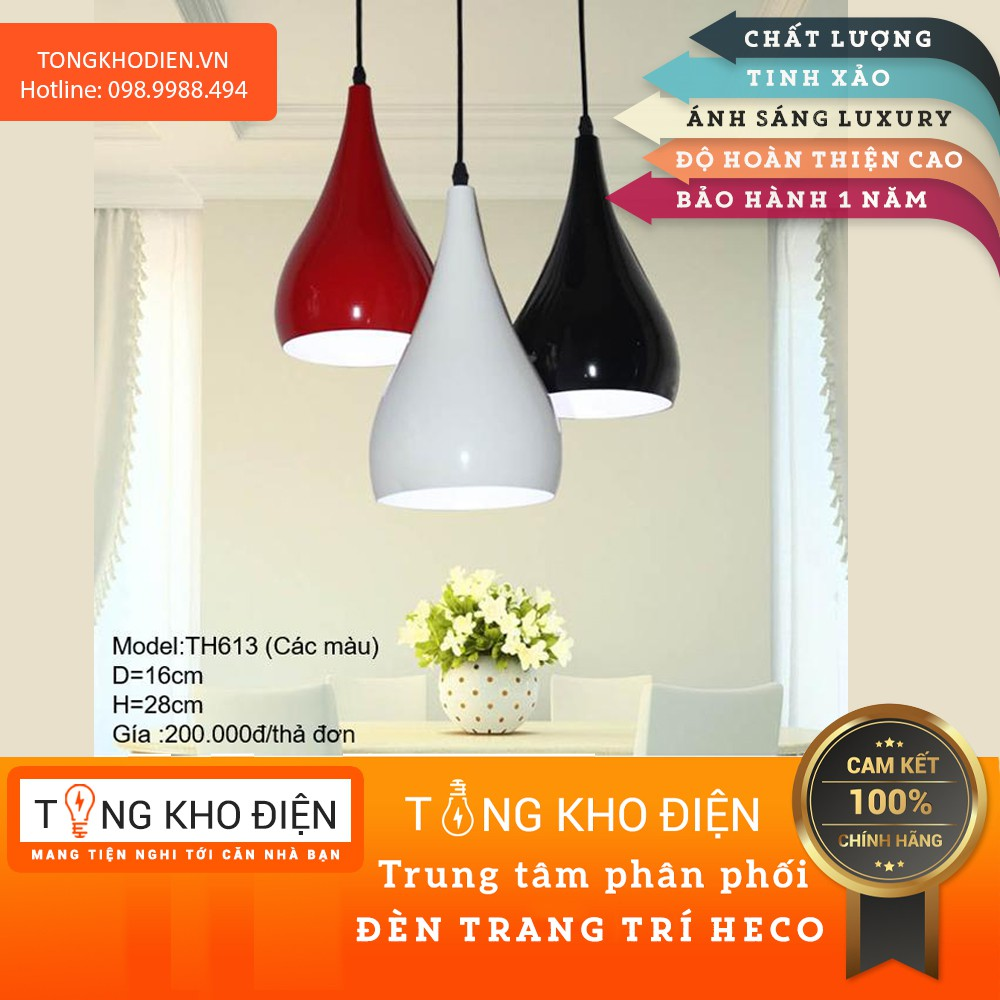 Đèn thả trần nhiều màu TH613 (Giá trên ảnh 1 chao)