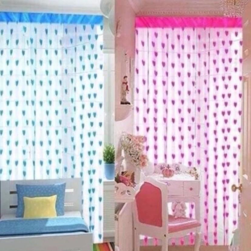 Rèm cửa sổ chống nắng rèm cửa ngắn trái tim có thể làm rèm nhà tắm rèm nhà vệ sinh( R:1m - D: 2m )