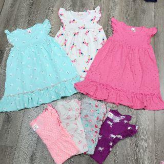 Váy bé gái cotton size đại 25-40kg xuất dư