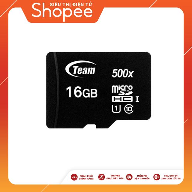 Thẻ nhớ Team Group MicroSDHC 16GB Class 10 - Chính Hãng