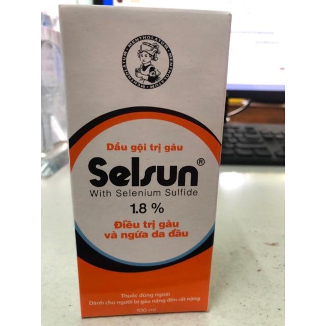Dầu gội trị gàu selsun 1.8% . Dành cho người bị gàu nặng đến rất nặng