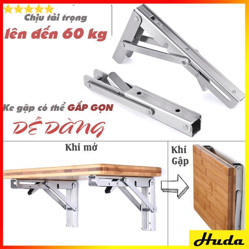 Bản lề gấp thông minh INOX Ke gập làm bàn treo tường bộ 2 chiếc  -  đồ làm mộc