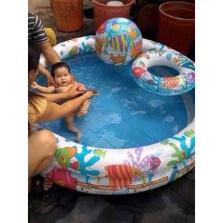 Bể bơi Intex 3 tầng 3 chi tiết ( Bể Bơi + Phao + Bóng)