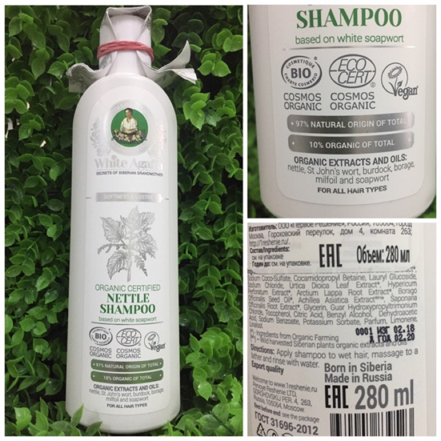 Dầu gội hữu cơ kích thích mọc tóc White Agafia Nettle 280ml - 3037283 , 1002831659 , 322_1002831659 , 150000 , Dau-goi-huu-co-kich-thich-moc-toc-White-Agafia-Nettle-280ml-322_1002831659 , shopee.vn , Dầu gội hữu cơ kích thích mọc tóc White Agafia Nettle 280ml