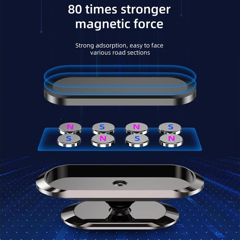 Giá Đỡ Điện Thoại Xoay 360 Độ Từ Tính Gắn Xe Hơi Tiện Dụng Cho Iphone Android
