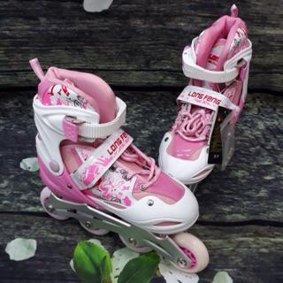 Giày trượt patin Longfeng 906 màu hồng