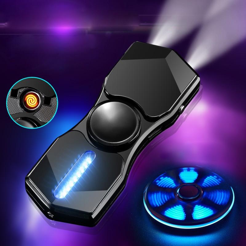 Con Quay Spinner Hồng-Ngoại Kiêm Đèn Pin Sạc Điện USB Tạo 12 Hiệu Ứng Đèn Led(màu ngẫu nhiên)