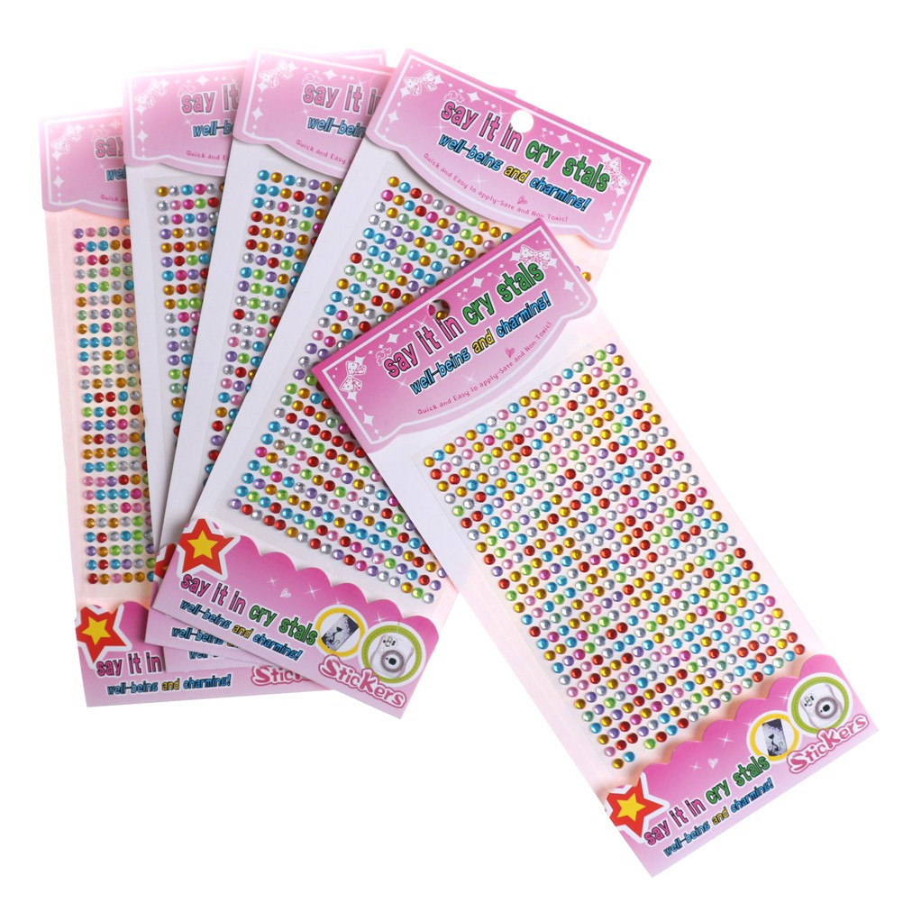 Specialhour 2Set Self Adhesive Glitter Crystal Gems Jewels Sticker Diamond Rhinestones Strip