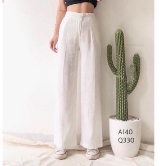 Quần đũi nữ ❤️quần culottes đũi dáng dài ống rộng ❤️ siêu Hot