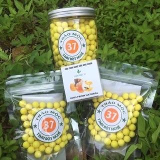 Mua1 tăng 2, mua 1 hũ to 500g viên tinh bột nghệ mật ong 37 được tặng kèm 2 túi zip
