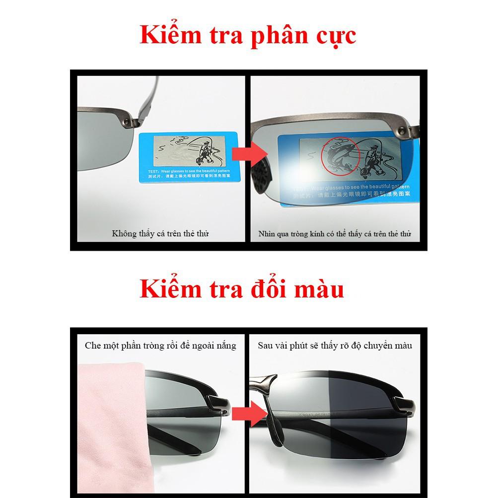 Mắt kính phân cực đổi màu A3043 - NVfashion đúng miêu tả