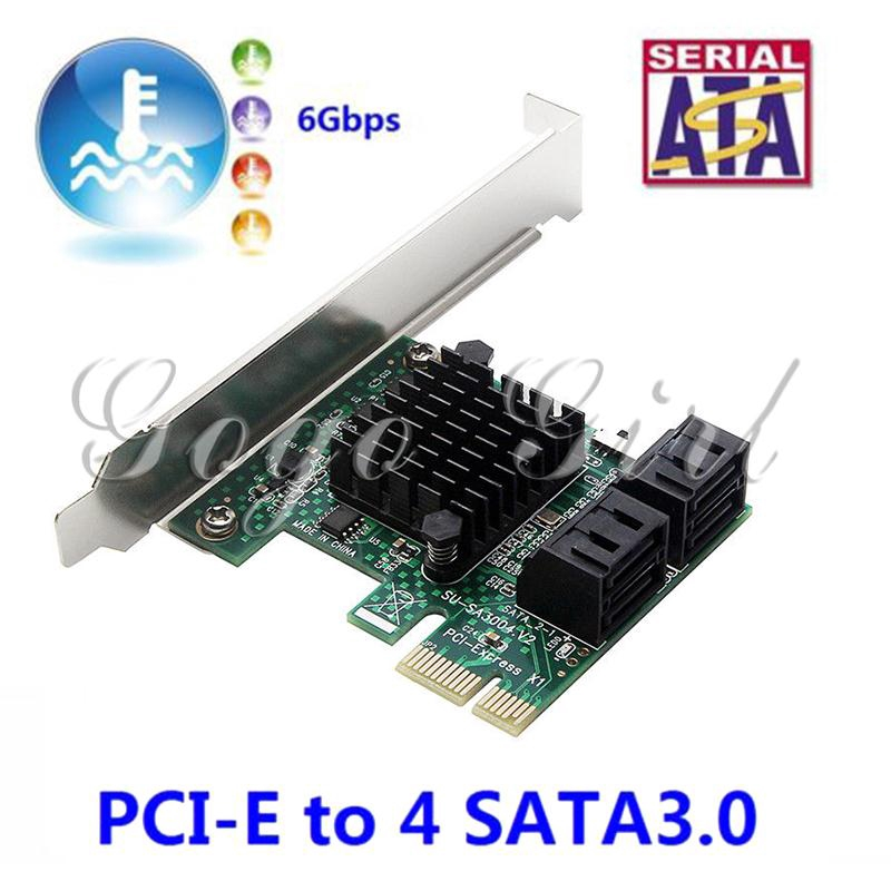 Gogo PCI Express To SATA 3.0 6Gbps Expansion Controller Card Portable Gadget Adapter