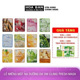 Lẻ miếng mặt nạ dưỡng da 3W Clinic Fresh Mask - PR01