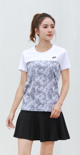 2021 New Arrival victory Badminton Clothes Breathable Quick-Dry Stripe Jersey Shirts+Shorts woman Sets Couple Sets white