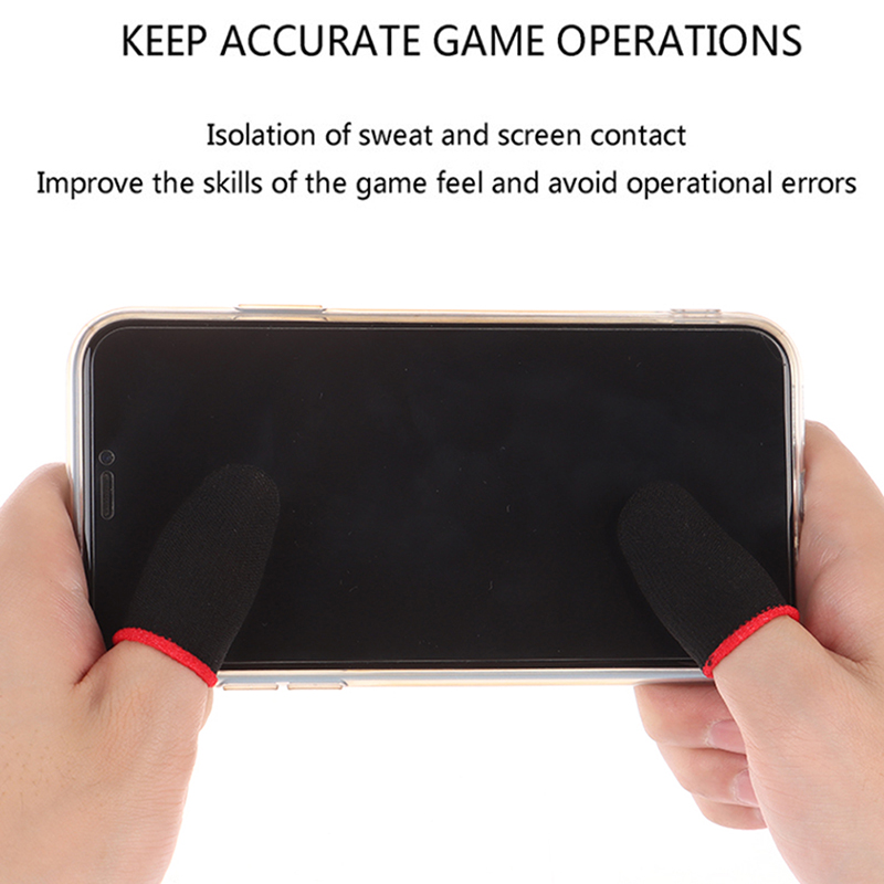 2XMobile Game Sweat-proof Fingers Gloves Touch Screen Thumbs Finger Sleeve Cover