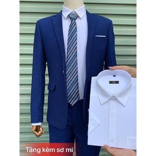 Bộ vest nam màu Xanh Coban cao cấp Hàn Quốc
