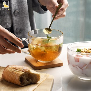 BANFANG Cốc uống trà bằng thuỷ tinh cỡ lớn sang trọng