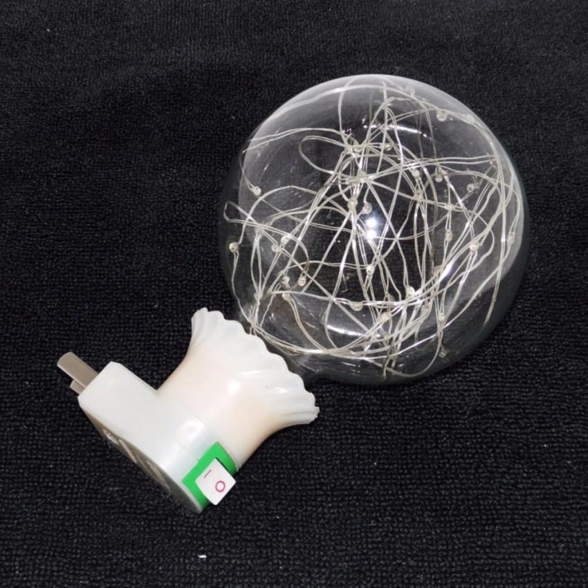 Bóng đèn led trang trí tròn nhấp nháy DPT-NNTĐB + tặng kèm 01 đuôi bóng đèn có công tắc