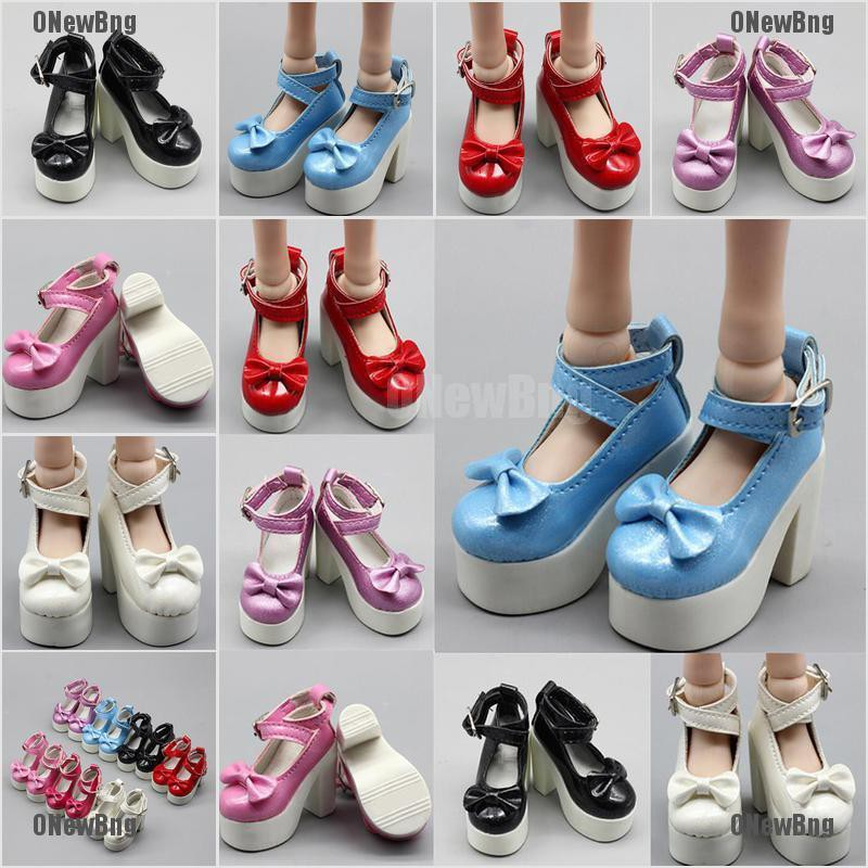 ONewBng✪ 1 Pair Doll Princess High Heel Shoes For 1/3 1/4 Bjd 60Cm Sd Dolls Shoes Gift