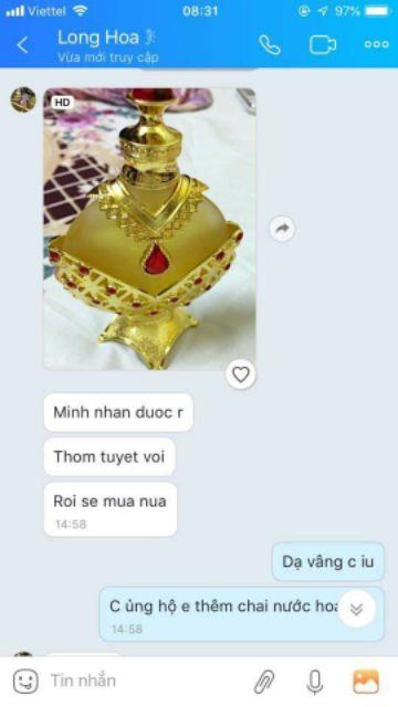 [HOT NHẤT]Tinh dầu nước hoa nội địa dubai công chúa vàng