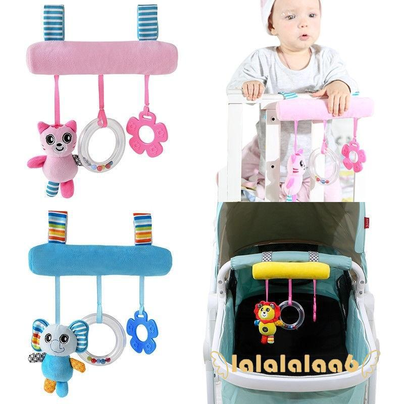 .AA-Baby Infant Rattles Plush Animal Stroller Sound Hanging Bell Toy Doll Soft