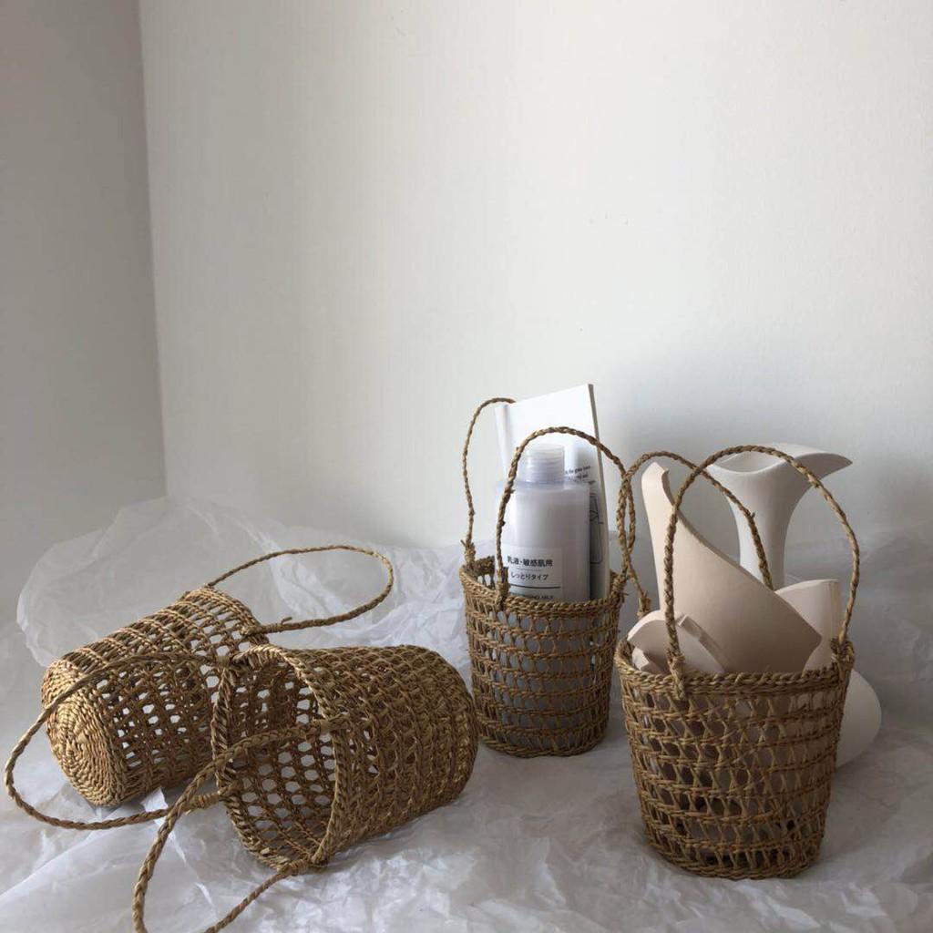 giỏ đan rơm đựng đồ tiện dụng