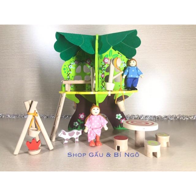 GỖ - Mô hình nhà trên cây Fun Baby MH001