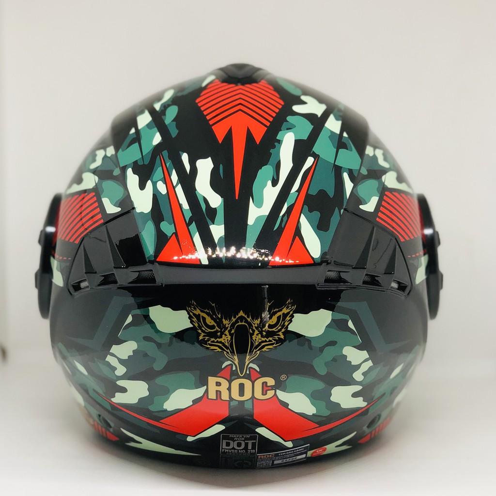 Mũ bảo hiểm 3/4 ROC R6 tem V2 - ROC R06 có kính