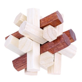Baby Kongming Luban Lock Chinese Traditional Toy Intellectual 3D Wooden Puzzles