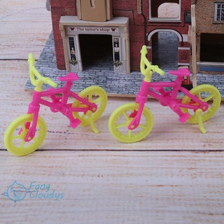 ❤❤❤2pcs Handmade Doll Bicycles Bike Accessories Fashion Plastic Gift Toy