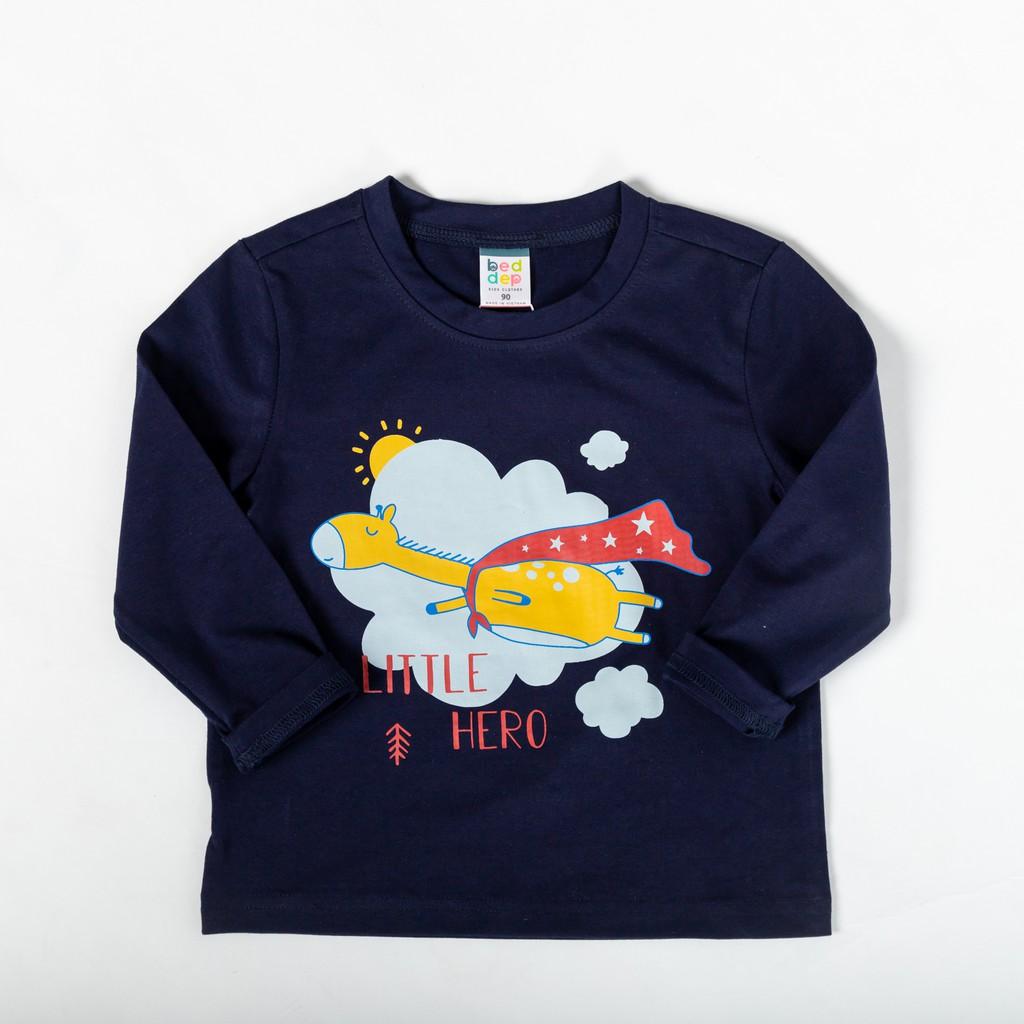 Áo thun trơn tay dài Beddep Kids Clothes cho bé trai từ 1 đến 8 tuổi BP-B06