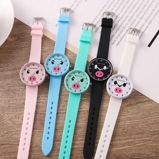 Đồng hồ cao su nam nữ MSTIANQ nhiều màu, mặt con Mèo , con Heo rất dễ thương. ( Mã MST06) thumbnail