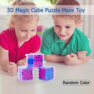 Khối lập phương 3D mê cung giải đố trí tuệ kích thước 4CM*4CM*4CM chất liệu nhựa cho bé