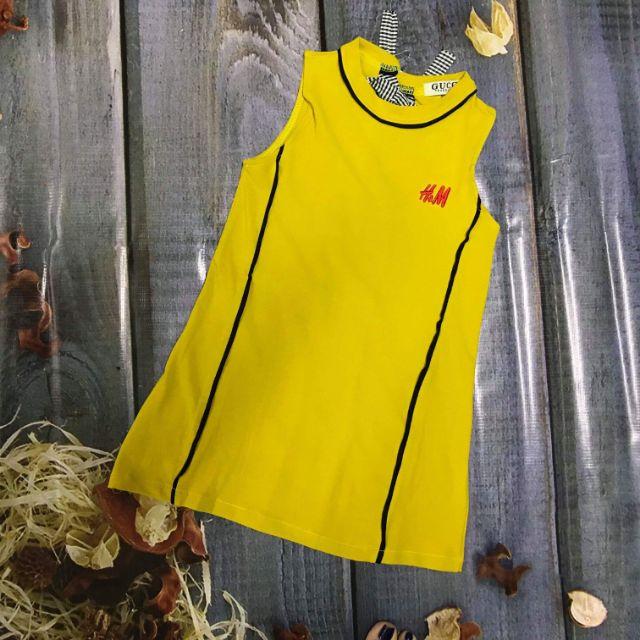 Váy bé gái cotton thêu chữ H&M màu vàng, đen - 2567619 , 956602443 , 322_956602443 , 90000 , Vay-be-gai-cotton-theu-chu-HM-mau-vang-den-322_956602443 , shopee.vn , Váy bé gái cotton thêu chữ H&M màu vàng, đen