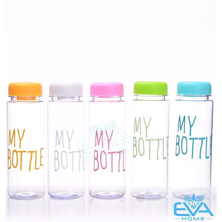 Combo 5 Bình Nước Thủy Tinh In Chữ My Bottle Nhiều Màu 500ml