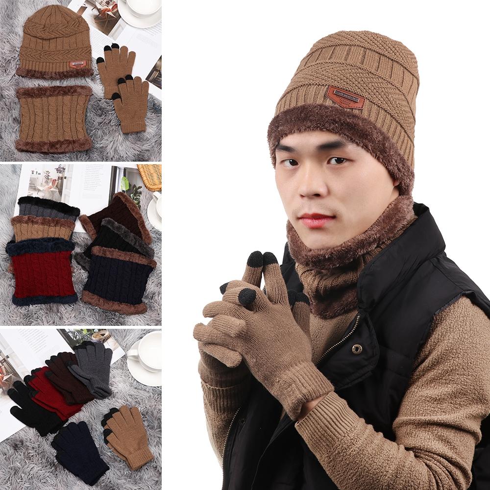 Set Mũ Len+Găng Tay Giữ Ấm Cho Bé