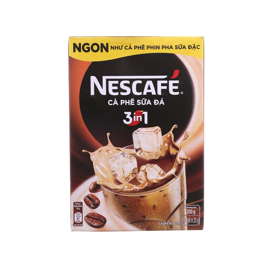 [HSD: 2021] Cafe sữa đá Nescafe hộp 10 gói 200g