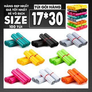 [FREESHIP] 100 Túi Gói Hàng, Túi Đóng Hàng Tự Dính Niêm Phong, size 17×30 cm