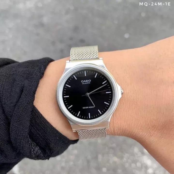 Đồng hồ Nam dây thép Casio MQ-24M-1EDF chính hãng bảo hành 1 năm Pin trọn đời