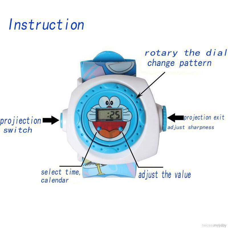 Đồng hồ đeo tay chiếu hình 3D vui nhộn cho trẻ em
