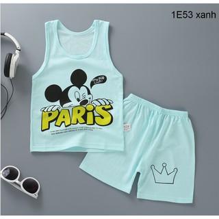 Set bộ quần áo ba lỗ chuột Mickey cho bé trai bé gái VEMZKIDS thumbnail