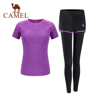 CAMEL Yoga Suits Women s Gym Sportswear Morning Running Fitness Clothing thumbnail