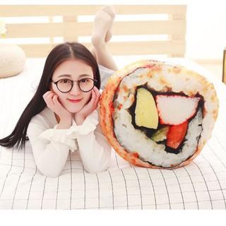 CHÍNH HÃNG Gối ôm 3D hình miếng Sushi_gấu bông, quà tặng thú nhồi bông đồ ăn