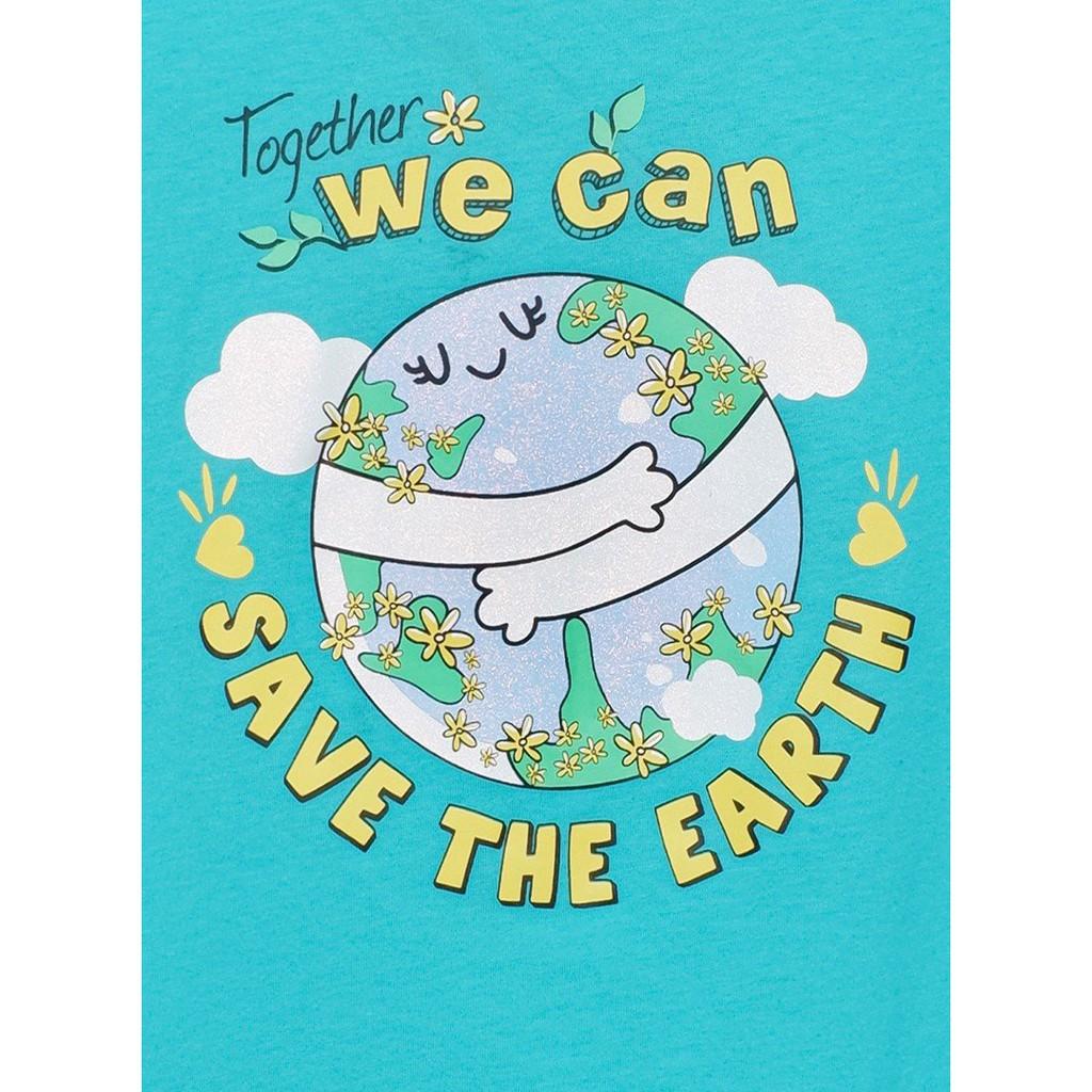 Áo thun bé gái Save The Earth M.D.K