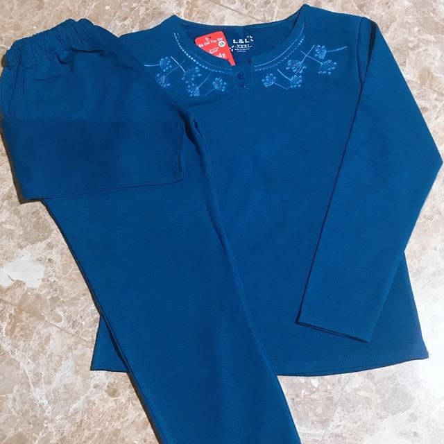 Bộ quần áo thời trang trung niên mặc ở nhà thu đông cho mẹ