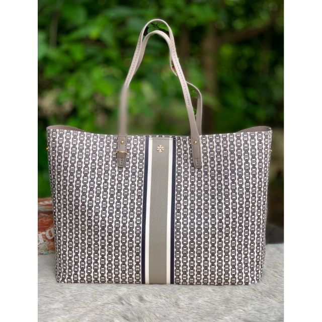 French Gray  TORY BURCH GEMINI LINK TOTE