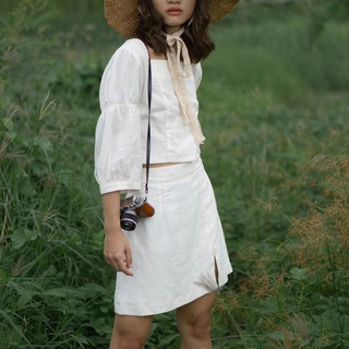 Thời Trang Nữ – Chân Váy Ngắn Linen – Twice Skirt